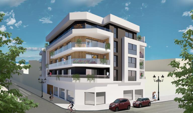 3 Slaapkamer 2 badkamer nieuw appartement centrum Guardamar in Nieuwbouw Costa Blanca