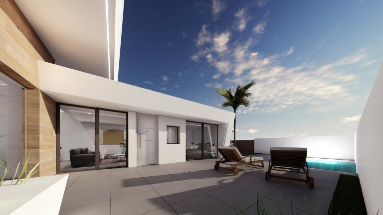 Schitterend nieuw 2 slaapkamer villa project Murcia Kust regio Nieuwbouw Costa Blanca
