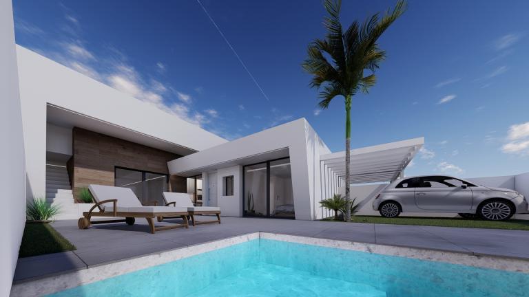 Schitterend nieuw 2 slaapkamer villa project Murcia Kust regio in Nieuwbouw Costa Blanca