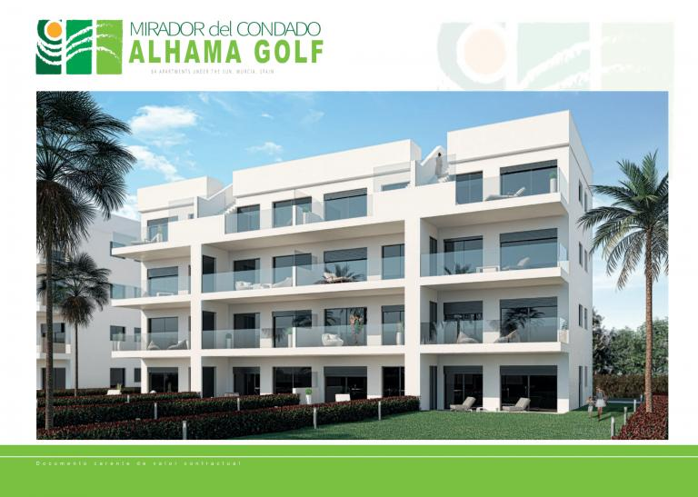 Nieuwe appartementen in golf resort Alhama Golf, Murcia in Nieuwbouw Costa Blanca